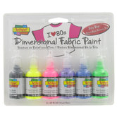 Scribbles 3D Fabric Paint Set - 6 Piece Set